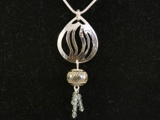 Silver Flame Pendant