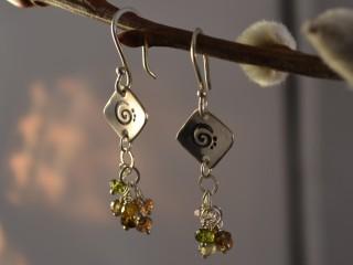 Earthtone Spiral Earrings
