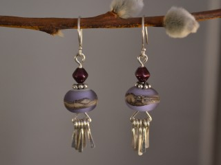Frosted Violet Earrings