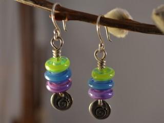 Jewel-tone Disc Earrings