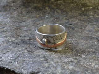 Mixed Metals & Pearl Ring