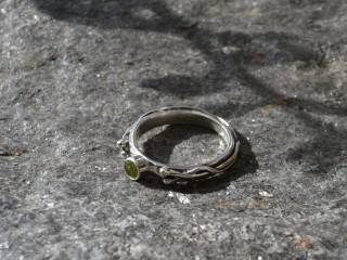 Peridot Branch Ring