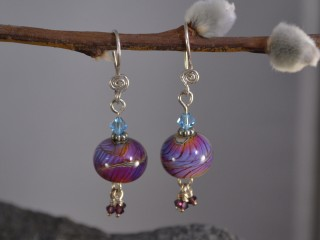 Purple Globe Earrings